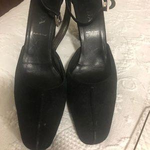 Black Suede Aithentic Prada Shoes